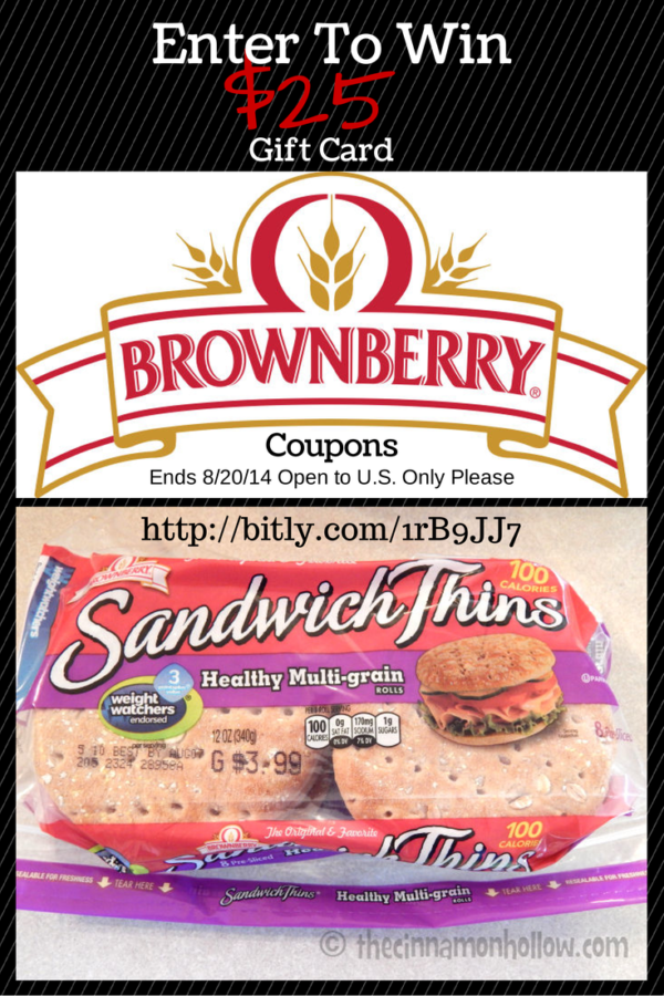 "Brownberry Bread $25 Visa Gift Card #Giveaway And ""America's Better Sandwich"" Contest"