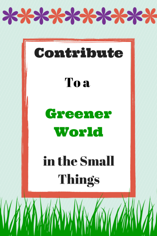 We Can Contribute To a Greener World in the Small Things