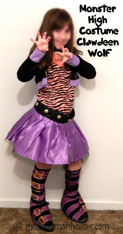 Clawdeen wolf monster high costume - Clawdeen wolf pyjama party ...
