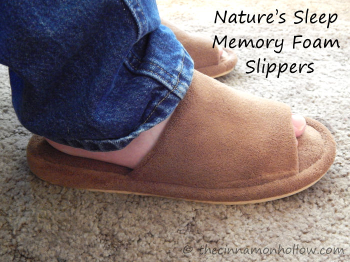 I've worn Nature's Sleep Memory Foam Slippers for quite awhile but until recently, my husband Clay had never experienced that cushy softness for himself. I had the opportunity to review a new pair and I wanted him to be able to enjoy some uber foot comfort so I picked a pair for my man. I love me some Nature's Sleep Memory Foam Slippers!