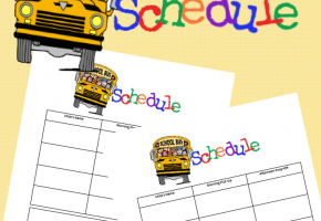 Printable Bus Schedule
