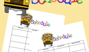 Printable Bus Schedule