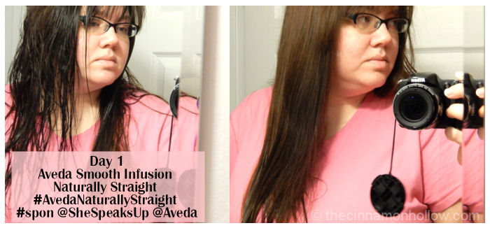 Day 1: Aveda Smooth Infusion Naturally Straight