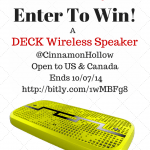 Ramp Up Your Fall Bonfires With DECK by @SolRepublic #Giveaway