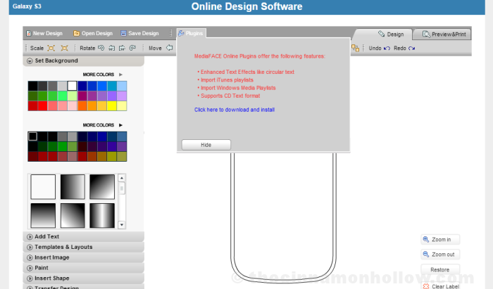 NEATO Online Label Design Software Plugins