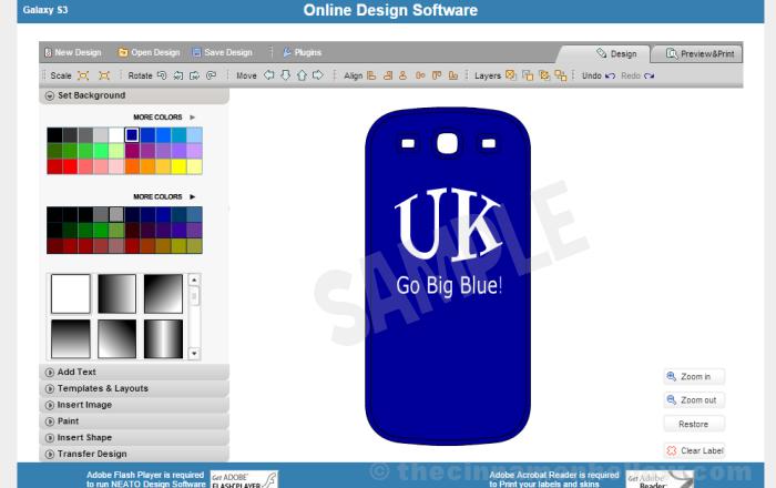 NEATO Online Label Design Software
