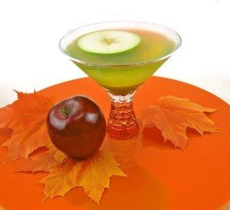 Caramel Apple Martini Featuring Van Gogh Vodka