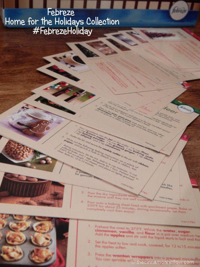 Febreze Home For The Holidays Activity Cards
