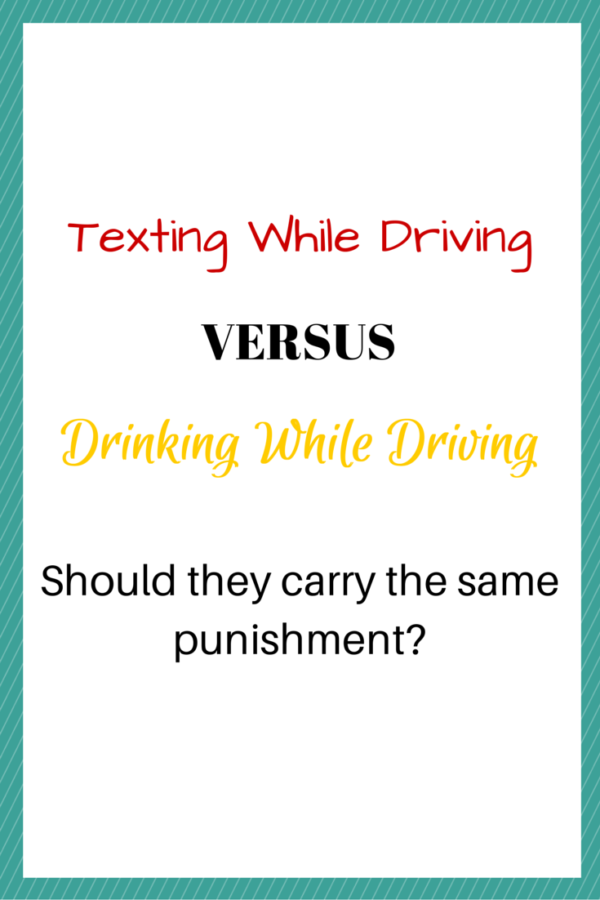 Texting While Driving Versus Drinking While Driving