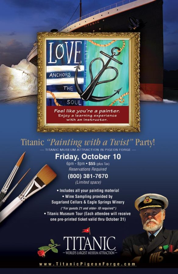 You're Invited To The Titanic Painting With A Twist Party #titanic @TitanicUSA