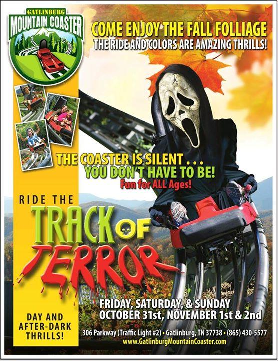 Gatlinburg Mountain Coaster Halloween Track Of Terror