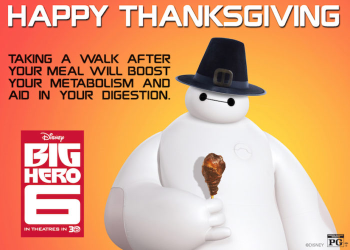 Happy Thanksgiving From Big Hero 6! #BigHero6 #MeetBaymax