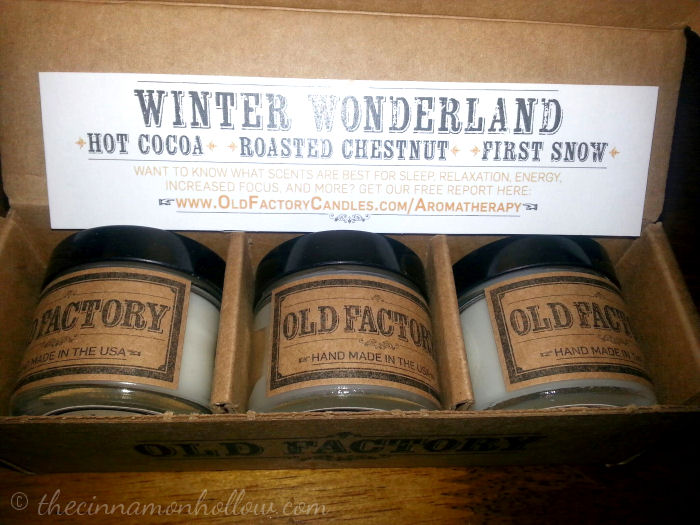 Old Factory Candles Winter Wonderland Set