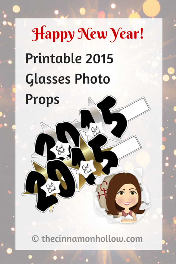 New Year's Eve Party Printable: Printable 2015 Photo Props Glasses