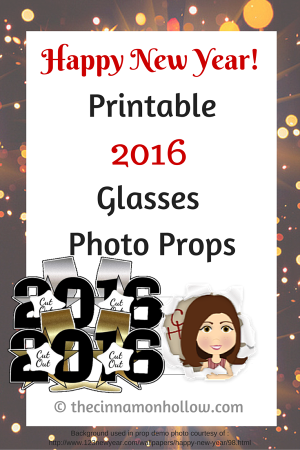 2016 Glasses New Year Photo Props
