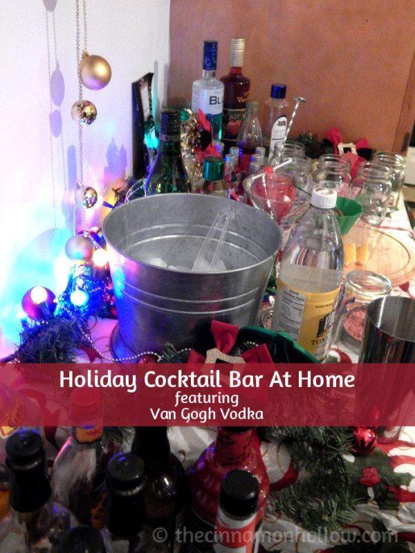 Holiday Cocktail Bar featuring van Gogh Vodka