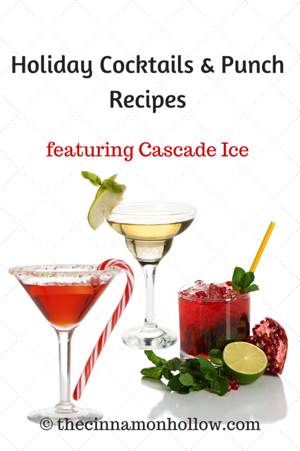 Holiday Cocktails & Punch Recipes With Cascade Ice #cocktails #mocktails