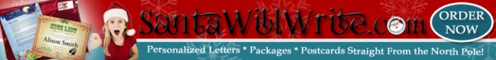Santa Will Write - Personalized Santa Letter