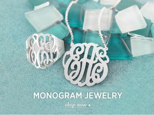 MonogramOnline Monogrammed Jewelry and Name Jewelry