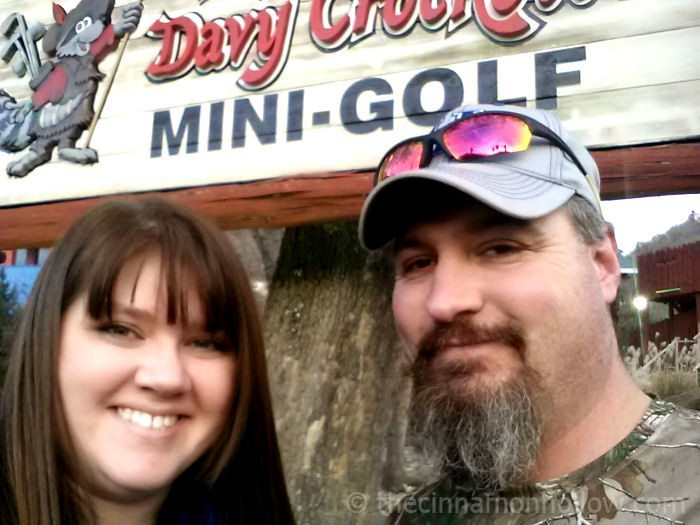 Crystal and Clay at Davy Crocket Mini Golf