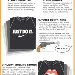 Express Yourself With An Iconic T-shirt #infographic