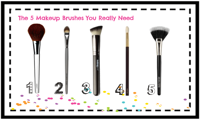 The 5 Makeup Brushes You Really Need