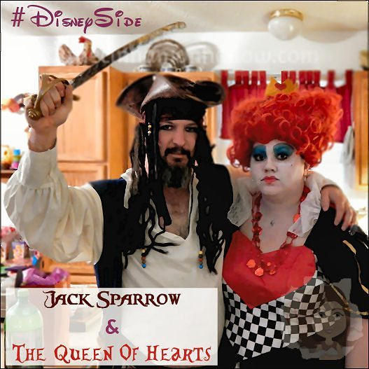 Jack Sparrow and Queen of Hearts #DisneySide @Home Celebration