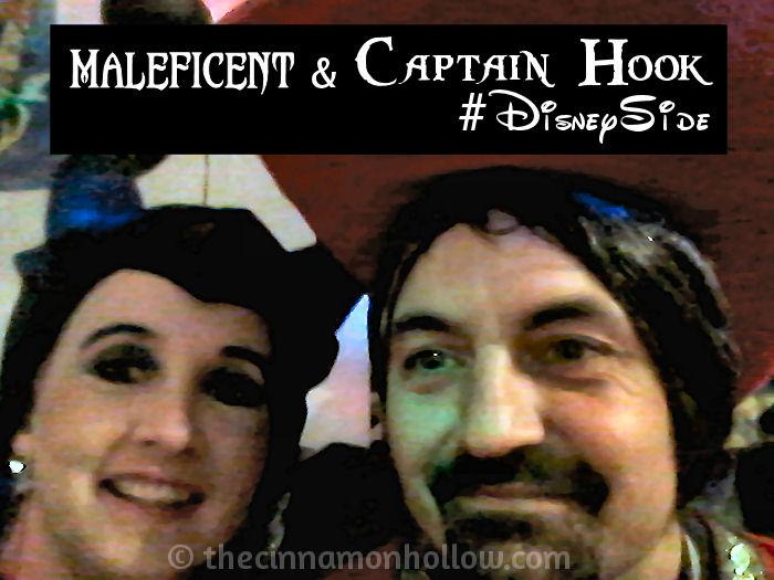 Maleficent and Captain Hook #DisneySide @Home Celebration