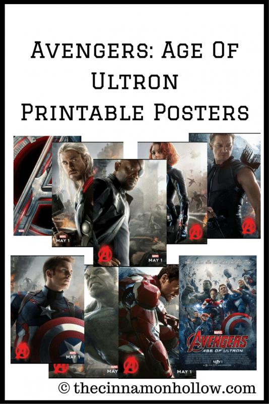 AVENGERS AGE OF ULTRON Printable