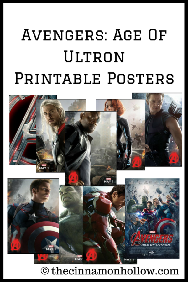 AVENGERS- AGE OF ULTRON Printable