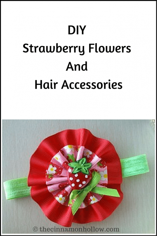 DIY Strawberry Flowers And Hair Accessories