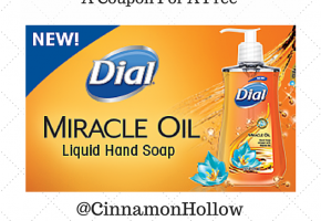 Dial Miracle Oil Hand Soap Giveaway
