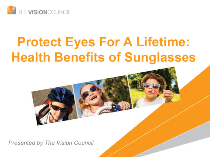 The Vision Council Sunglasses