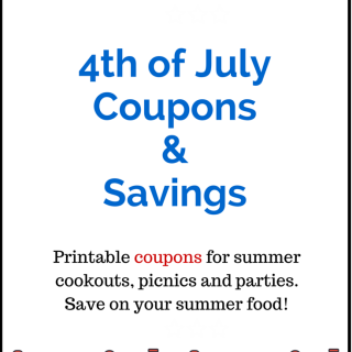 4th Of July Coupons! Save Money On Your Cookouts!
