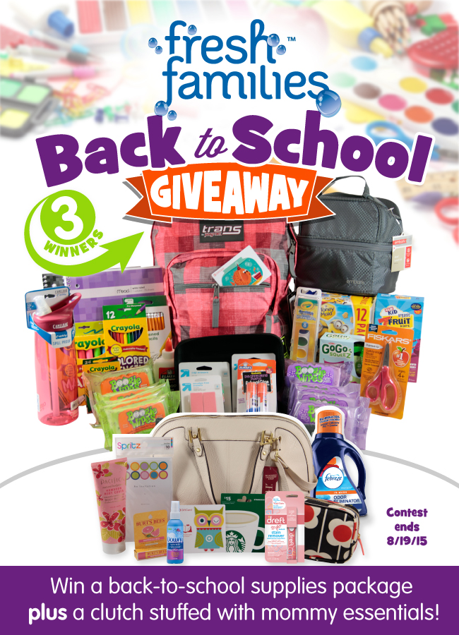 Enter The Fresh Families Back To School Giveaway! $200 Value!