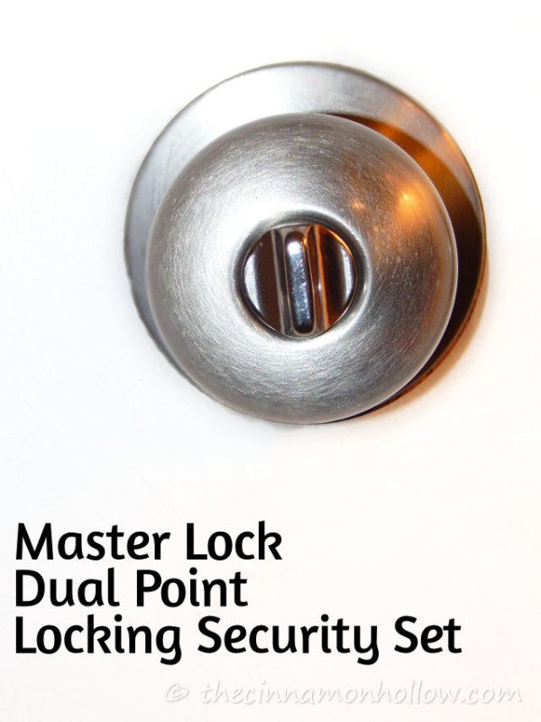 Master Lock Dual Point Locking Security Set Doorknob