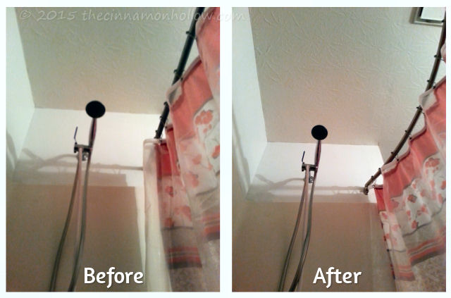 Bathroom Makeover With A Unhinge Curved Shower Curtain Rod Set