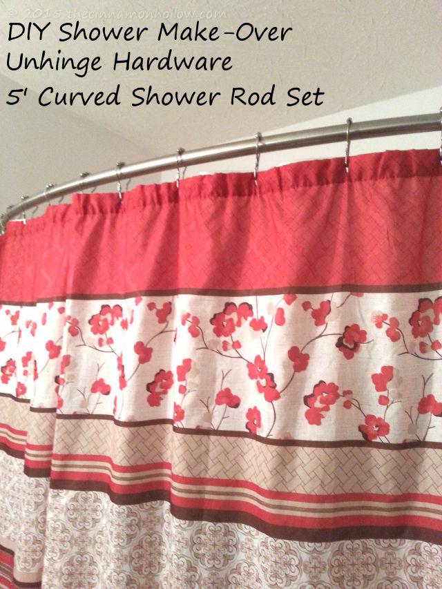 Unhinge Curved Shower Curtain Rod Set