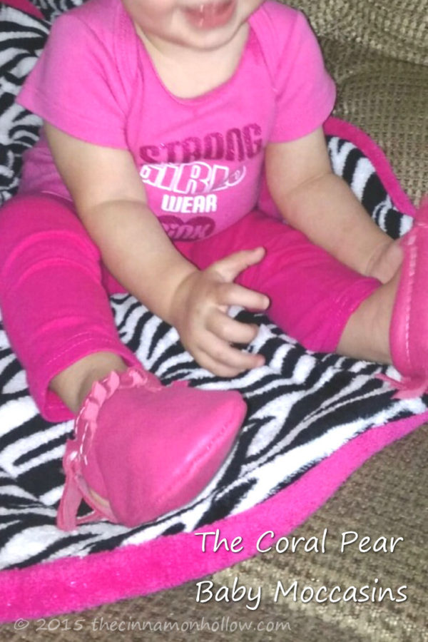 The Coral Pear Hot Pink Baby Moccasins