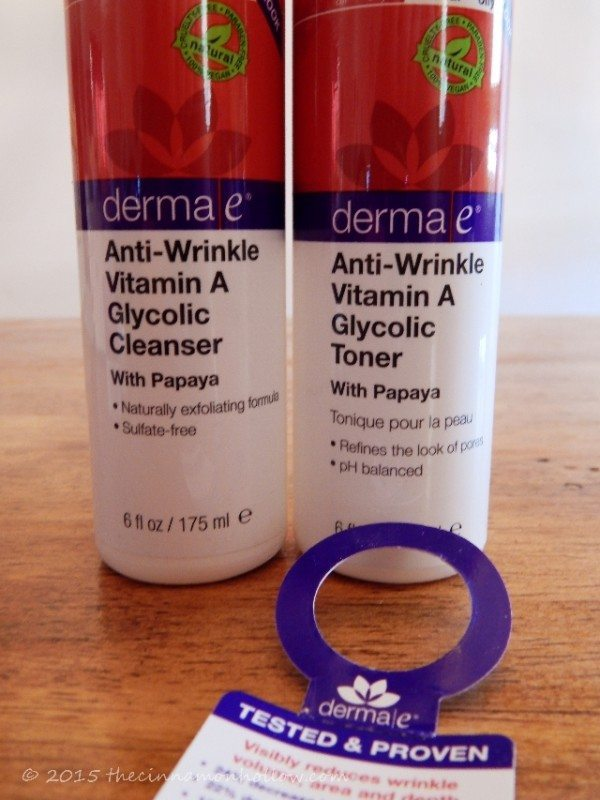 derma e anti wrinkle cleanser and toner
