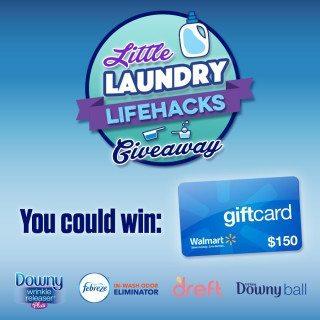 Little Laundry Lifehacks And $150 Walmart Gift Card Giveaway