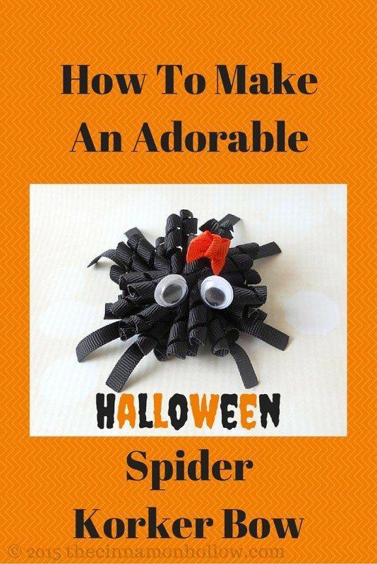 Halloween Décor Ideas: Spider Korker Bow
