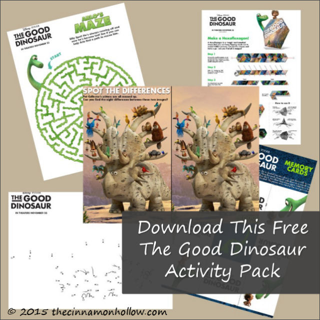 The Good Dinosaur Activity Pack