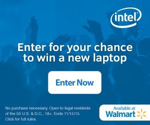 Intel laptops available at Walmart