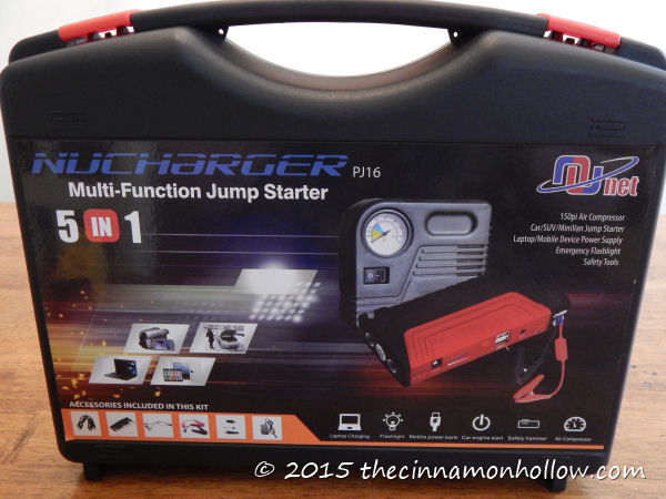 Nunet Multi-Function Jump Starter with Air Compressor