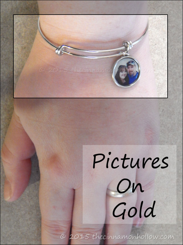 Pictures On Gold Expandable Photo Bracelet