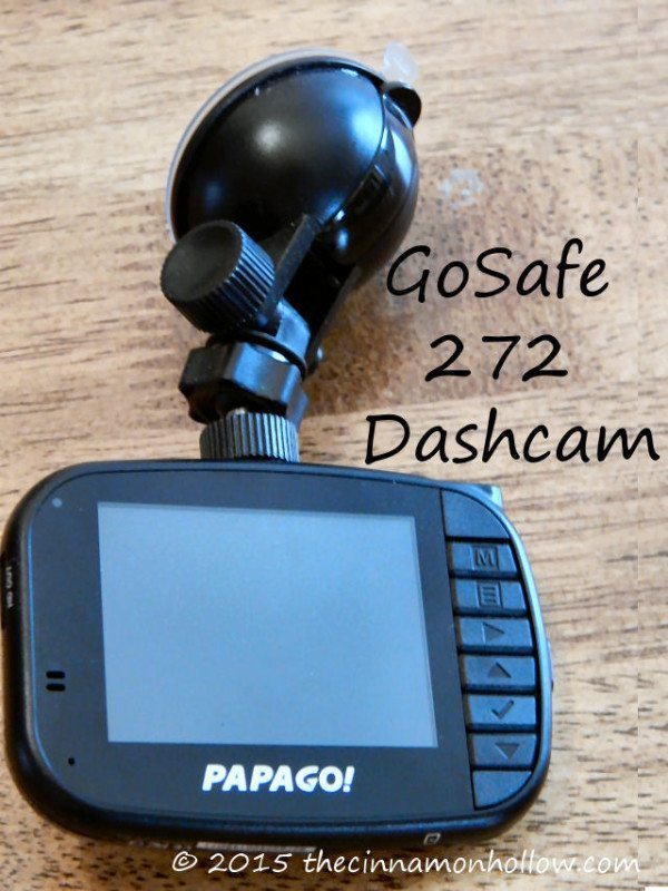 GoSafe 272 Dashcam screen