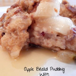 Apple Bread Pudding Recipe With Apple Pie Moonshine Glaze