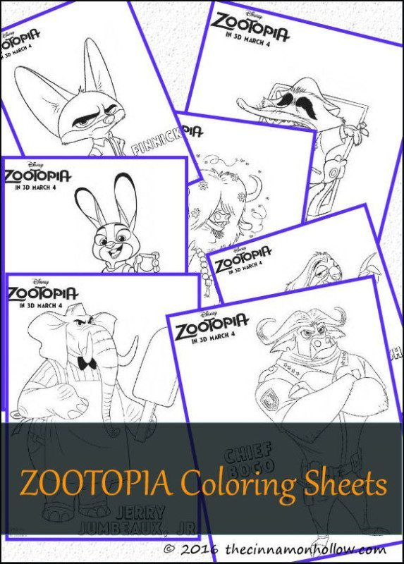 Zootopia Coloring Pages - Zootopia Coloring Sheets