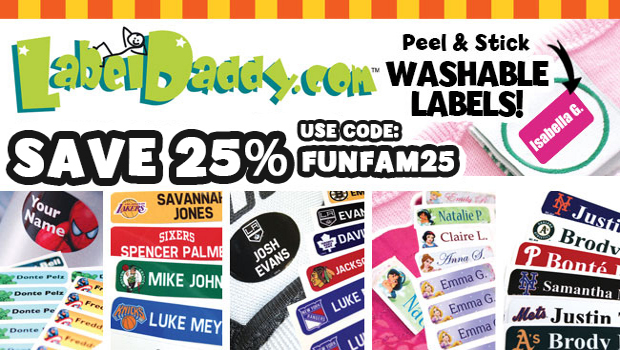 Peel and Stick Custom Name Labels